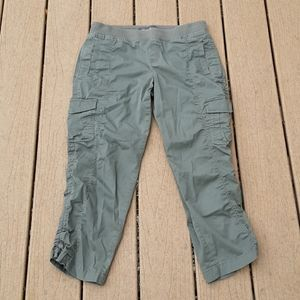 Eddie Bauer Grey Cargo Pocket Capris Pants